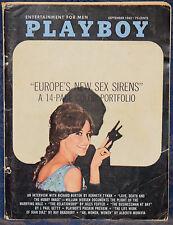 Magazine PLAYBOY September 1963 EUROPE SEX SIRENS, VICTORIA VALENTINO-CENTERFOLD
