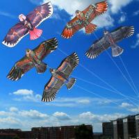 Hot Huge 1.1m Eagle Kite single line Novelty animal Kites Children's Outdoo F8G7