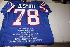 BILLS BRUCE SMITH #78 SIGNED STAT JERSEY 4X AFC CHAMPS HOF 09 JSA CERT