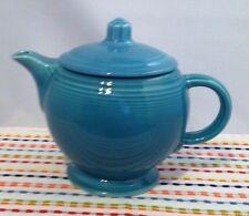 Vintage Fiestaware Turquoise Medium Teapot Blue Fiesta C Handle Teapot