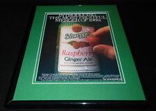 1989 Schweppes Raspberry Ginger Ale 11x14 Framed ORIGINAL Vintage Advertisement