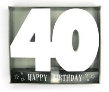 Signature Age Block Wooden Number - 40th
