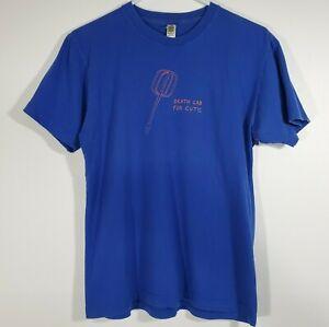 Death Cab For Cutie Mixer Beater Blue T-Shirt American Standard Cotton - Medium
