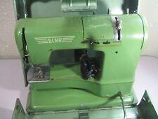 Vintage Swiss Elna Supermatic Sewing Machine w/ Original Case PARTS/REPAIR