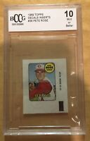 Pete Rose Grade 10 Mint 1969 Topps Decals Inserts #36 Non PSA BCCG