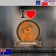 Labradoodle Illustration Sticker Style Custom cute Gift  11.2cm  x 12.6 cm