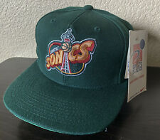 Rare NWT VTG Seattle Sonics Basketball Snapback Hat Cap Sports Specialties
