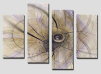4 PANEL Tot size 90x70cm ABSTRACT ART Large Digital Canvas Print 11  Rare