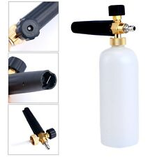 "1/4"" Adjustable Snow Foam Lance Cannon Washer Bottle Pressure Car Wash Gun Jet"