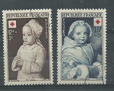 N° 914 et 915 paire Croix rouge oblitérée année 1951