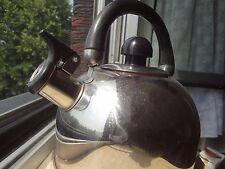 Teekanne teapot Hochglanz Chrom glänzend Kanne gas pfeife wasser  whistle kocher