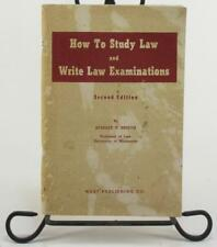How To Study Law And Write Law Examinations Stanley V. Kinyon 2nd Ed 1940