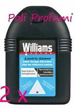 2 x Williams lectric shave pre rasatura elettrica 100 ml