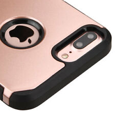 iPhone 7+ / 8+ Plus - HYBRID HARD ARMOR HIGH IMPACT CASE COVER ROSE GOLD / BLACK