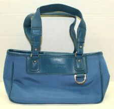 Tommy Hilfiger Blue Nylon & Leather Small Purse Bag Magnetic Close One Pocket