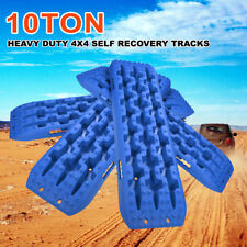 4x4 Recovery Tracks 10T Off Road 4WD Sand Track Snow Mud Tyre Ladder Blue 2Pair