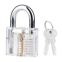 Stainless Steel Acrylic Transparent Steel Padlock with 2 Keys Wear Resistant