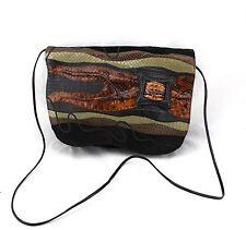 CARLOS FALCHI Vintage Lizard Croc Snakeskin Leather Patchwork  Crossbody Bag
