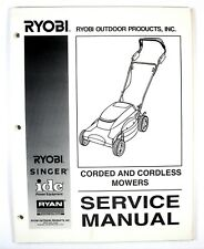 Ryobi Singer Corded and Cordless Mowers Service Manual