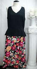 SHERI MARTIN New York Floral Black Pink Orange Halter A Line Fit Flare Dress 14