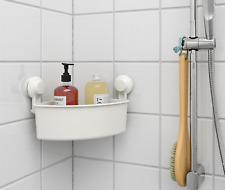 IKEA TISKEN Corner Shelf Units With Suction Cups White Bathroom/Shower