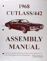 1968 Olds Cutlass Assembly Manual Supreme 442 F85 S Oldsmobile Factory