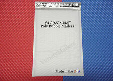 "8 Poly Bubble Postal Envelope Large Padded Mailers #4 9.5""x 14.5"" Made in USA!"