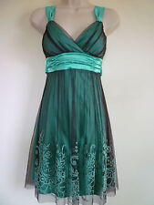 Taboo womens XS 2 3 green brown tulle empire waist corset homecoming prom dress