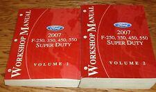 2007 Ford F-250 350 450 550 Super Duty Shop Service Manual Volume 1 & 2 Set 07