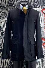 Burberry London Wool Black Top Coat Overcoat Men's 46 R Removable Liner