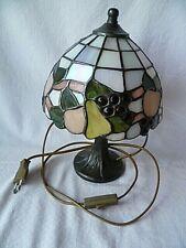 Tischlampe im Tiffany-Stil mit Metallfuß   30 cm