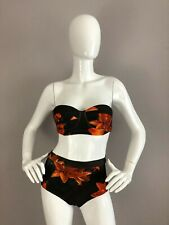 New We Are Handsome Women's Two Piece Flower Bathing Suit Swim Suit Size XS