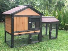 Rabbit Hutch Guinea Pig cage run Wooden Chicken Coop Hen House Meadow