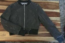 Adolfo Dominguez Designer Crop Zip Top, Double Layer, EU 38, Grey (Diamond Cut)