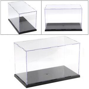 31cm Long Transparent Acrylic Perspex Dustproof Display Box Case Plastic Base