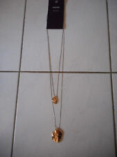 Idée Cadeau St Valentin - Collier sautoir chaîne en cascade doré Mango NEUF!