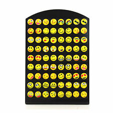 36Pairs Emoji Smile Emoticons Cabochon Earrings Stud For Women Girl Wholesale