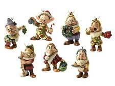 Disney Traditions Seven 7 Dwarfs Christmas Tree Decorations Set Ornaments