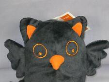 NEW BABY BLACK ORANGE OWL HALLOWEEN RATTLE BOO INFANT PLUSH STUFFED ANIMAL TOY