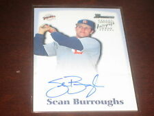SEAN BURROUGHS SIGNED AUTOGRAPH BASEBALL CARD CERTIFIED