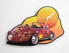 Hippie VW Beetle - Wall Clock