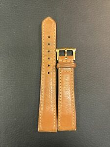 Patek Philippe 18k vintage buckle and strap.Brown Color