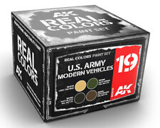 AK Interactive #AKI-RCS019 Real Colors: US Army Modern Paint Set