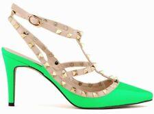 Zapatos de tacón alto Sexy Mujeres Fiesta Zapatos Hebilla con tiras en T y con Lady Stiletto señaló-Toe