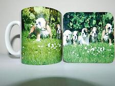 Bull Dog Cachorros Taza y Coaster Set