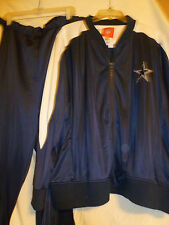 DALLAS COWBOYS SWEAT SUIT PANTS -JACKET-BLUE-WHITE -4XL