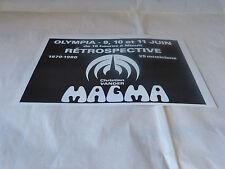 MAGMA - Petite Publicité de magazine / Advert !!! RETROSPECTIVE !!