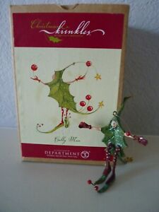 Dept 56 Christmas Krinkles Small HOLLY MAN Patience Brewster