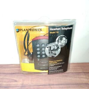 NEW PLANTRONICS T10 Black Headband Headset - Adjustable Over-the-ear FREE SHIP