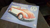 VOLKSWAGEN - CABRIOLET  Placa metalica litografiada publicidad 41x30 cm. replica